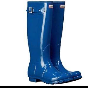 Hunter Boots: original tall blue women's US 6